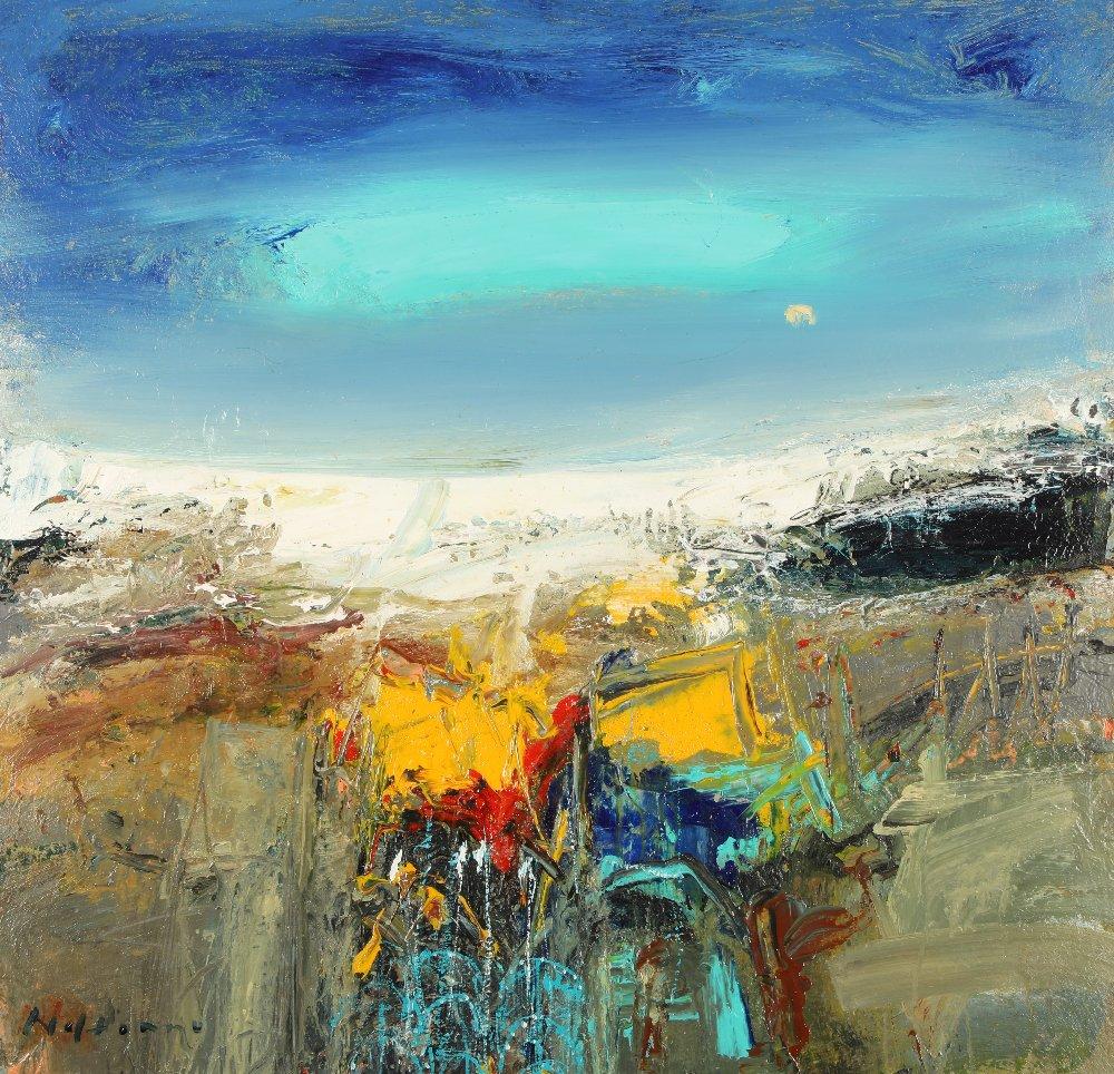 Nael Hanna (Scottish/Iraqi born 1959) ARR Framed oil on canvas, signed 'East Haven Fishing Creels