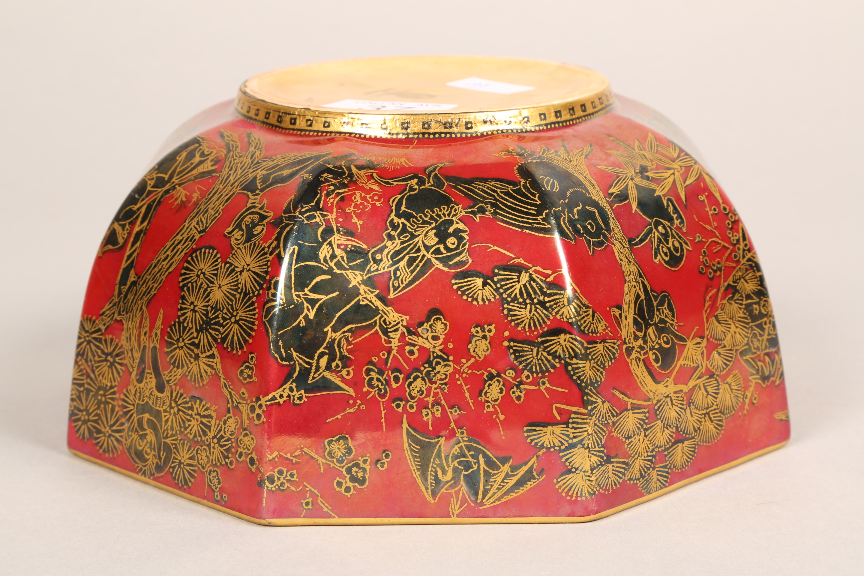 Wedgwood fairyland lustre bowl, by Daisy Makeig-Jones, octagonal form, decorated in the Firbolgs - Image 13 of 15