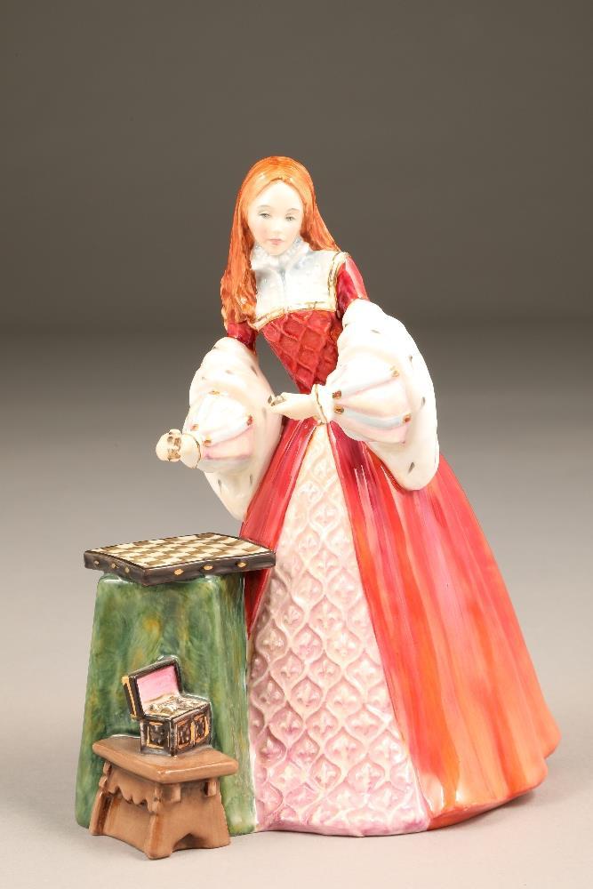 Royal Doulton bone china figure, limited edition, Princess Elizabeth, HN 3682, No 1102/5000.