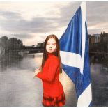 Gerard M Burns (Scottish born 1961) ARR Framed oil on canvas, signed 'Saltire Over the Clyde'