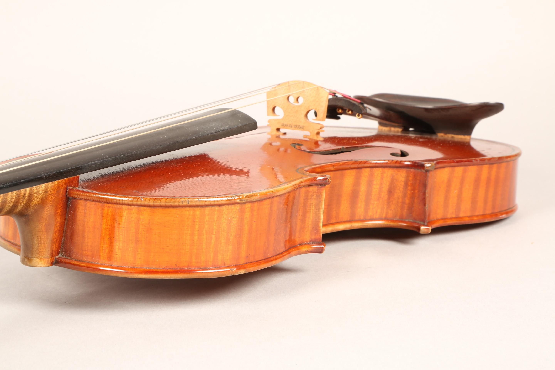 Violin by Jean Baptiste Collin Mezin, dated 1887. Interior label CH J B Collin-Mezin, Luther A - Image 9 of 14