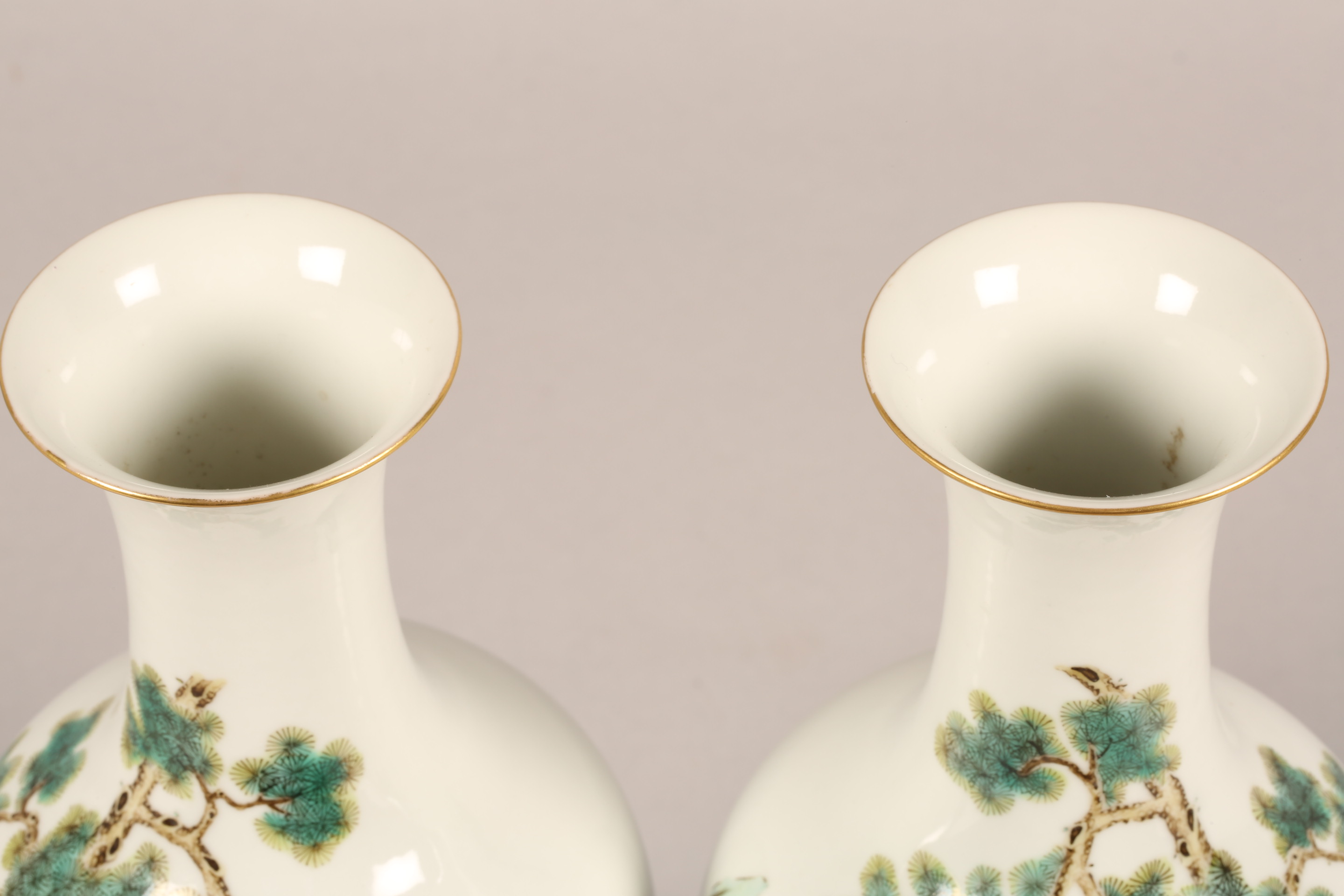 Pair 19th/20th century Chinese vases, of baluster form decorated with children playing with a sword, - Image 5 of 7