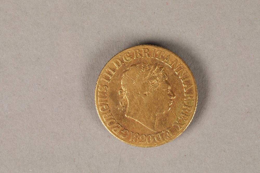 George III gold sovereign, dated 1820, weight 8g. - Image 2 of 4