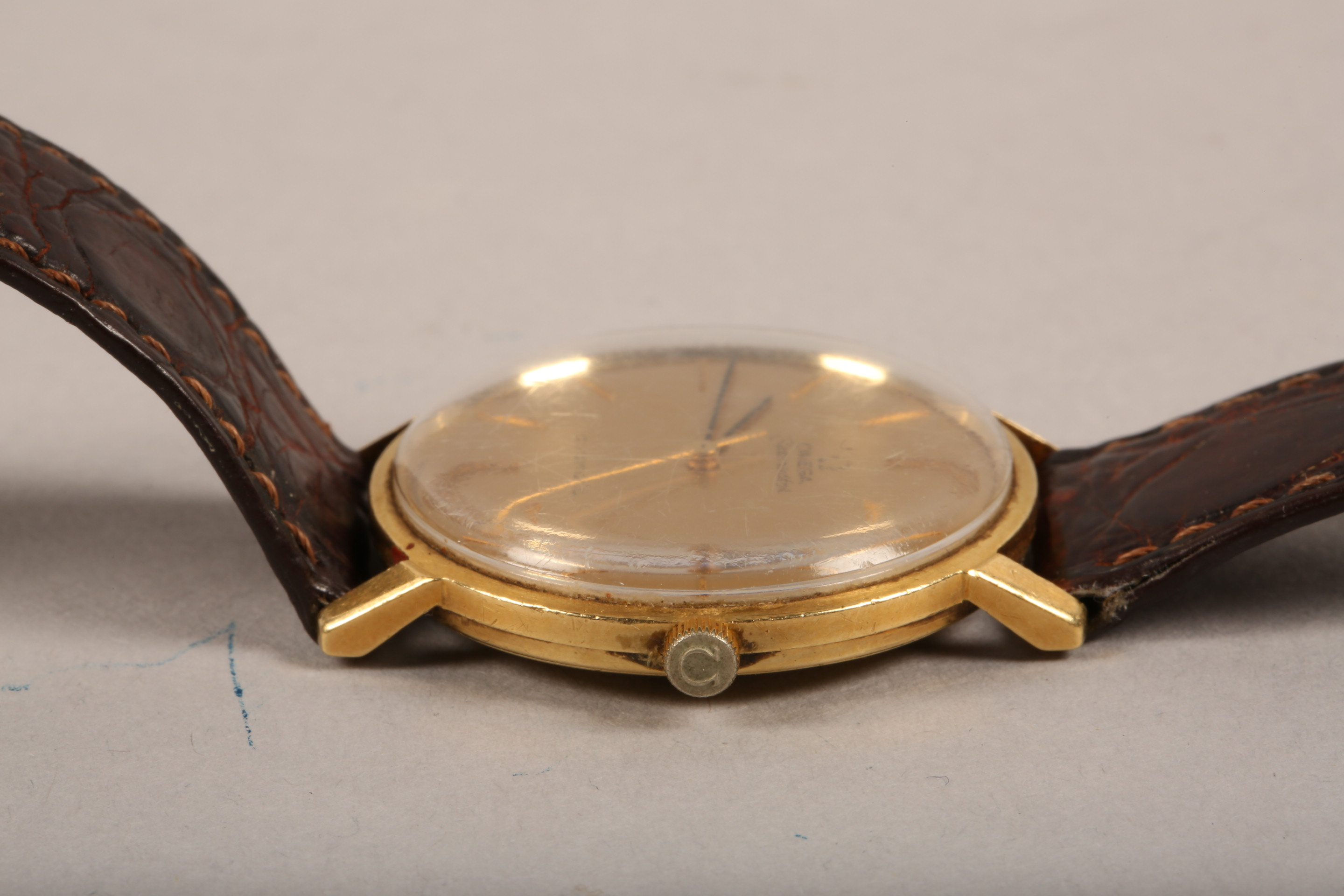 Gents 9 carat gold Omega Seamaster automatic wrist watch, dial with hour markers and sweeping - Image 10 of 10