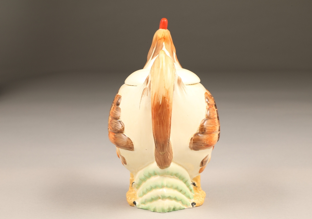 A Clarice Cliff teapot, in the form of a cockerel, height 19.5cm. - Image 5 of 7