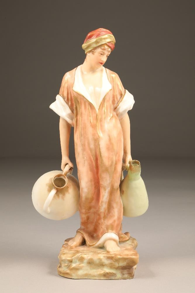 Nautilus porcelain figure, the water carrier, 35.5cm high. - Image 3 of 5