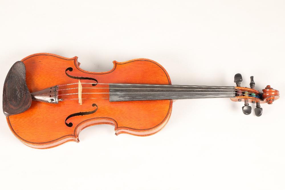 Violin by Jean Baptiste Collin Mezin, dated 1887. Interior label CH J B Collin-Mezin, Luther A