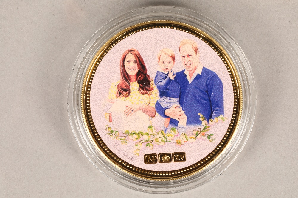 The H.R.H. Princess Charlotte gold NumisProof 9 carat gold proof, limited edition 39/60, with fitted