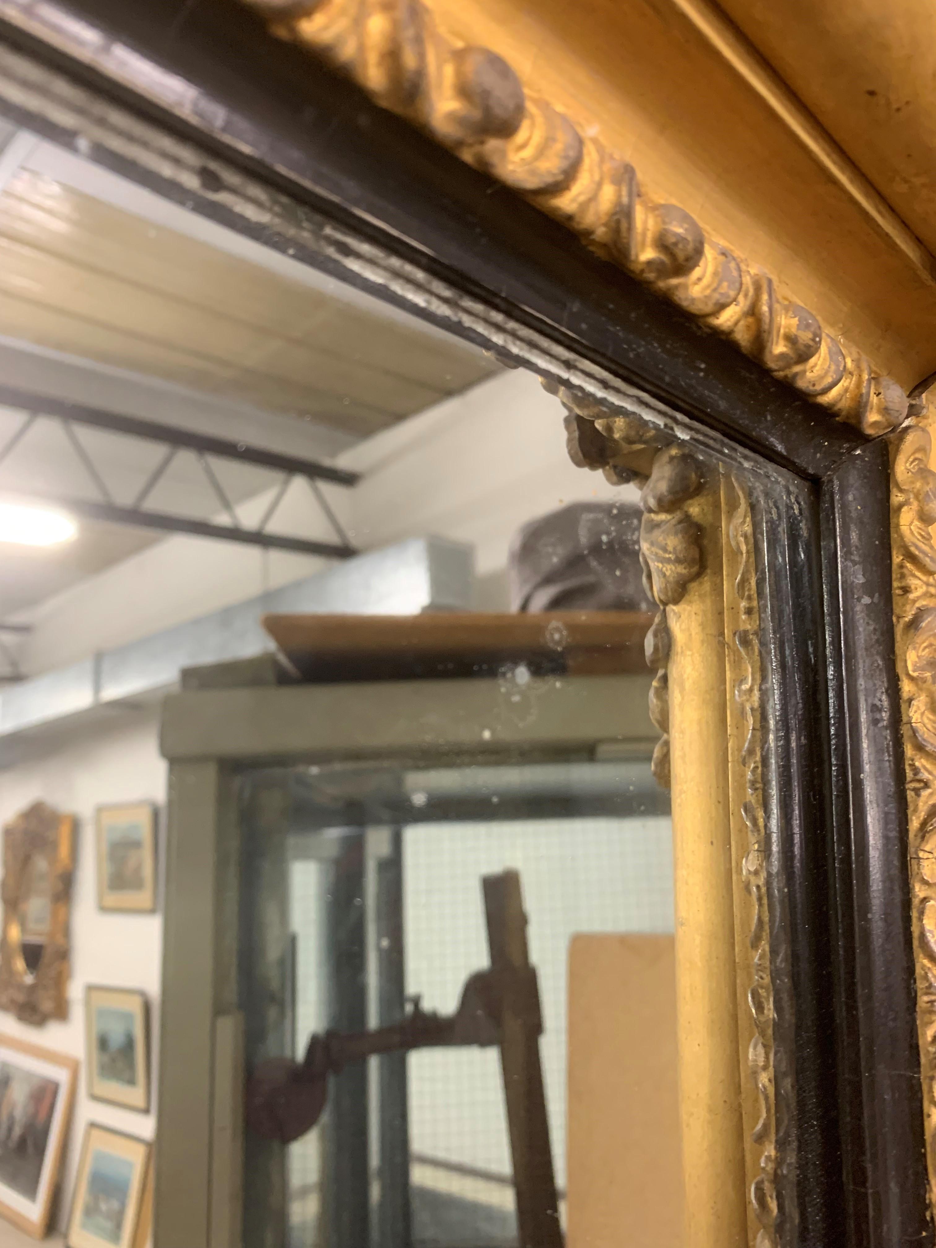 A large Regency gilt framed overmantelmirror, with acanthus leaf decoration, 212cm high, 108cm - Image 2 of 8