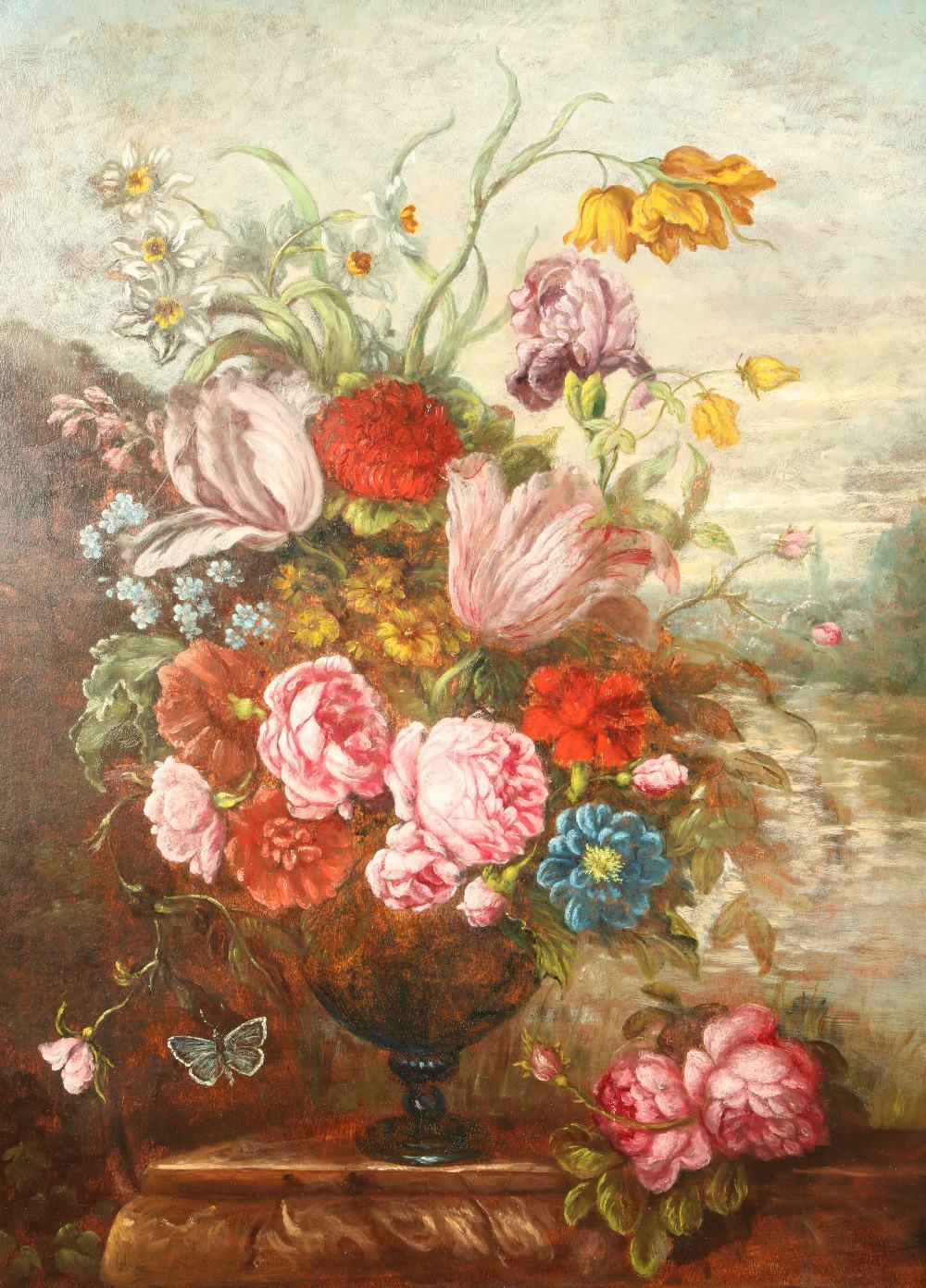 Dutch School Framed oil on board 'Flower Study'