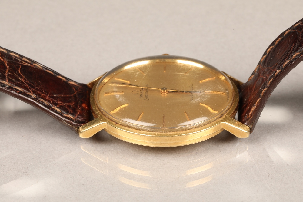 Gents 9 carat gold Omega Seamaster automatic wrist watch, dial with hour markers and sweeping - Image 3 of 10