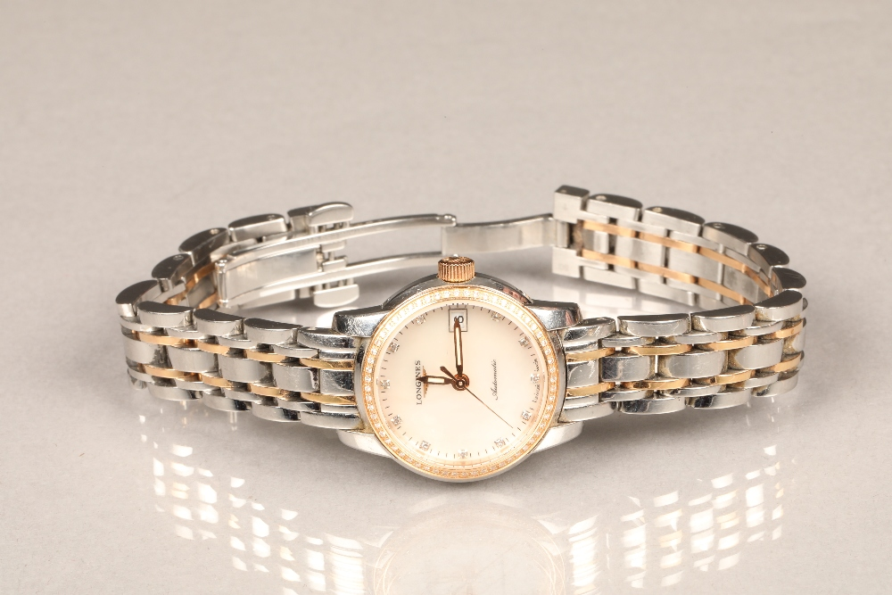 Ladies Longines Saint-Imier Collection automatic stainless steel bracelet watch, mother of pearl - Image 2 of 6