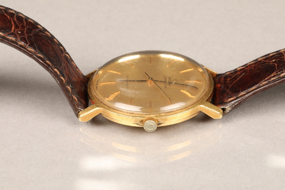 Gents 9 carat gold Omega Seamaster automatic wrist watch, dial with hour markers and sweeping - Image 4 of 10