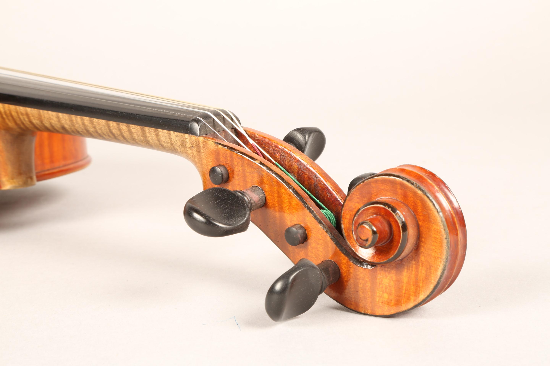 Violin by Jean Baptiste Collin Mezin, dated 1887. Interior label CH J B Collin-Mezin, Luther A - Image 11 of 14