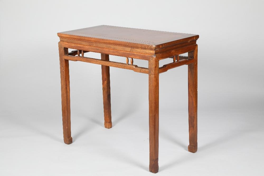 Chinese hardwood altar table, 95.5cm long, 51cm wide, 89cm high.