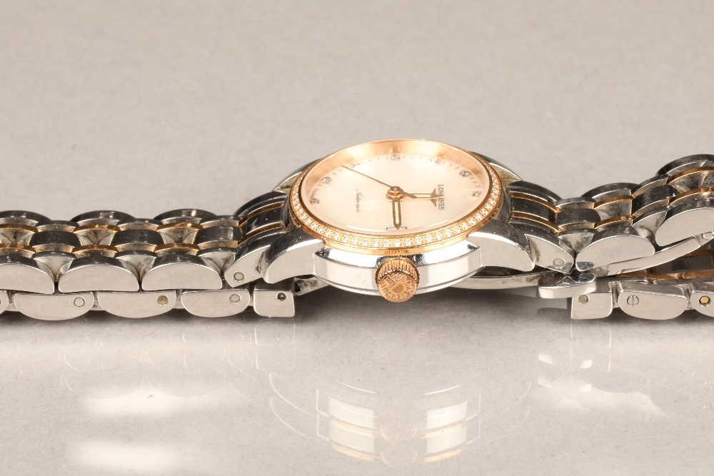 Ladies Longines Saint-Imier Collection automatic stainless steel bracelet watch, mother of pearl - Image 4 of 6