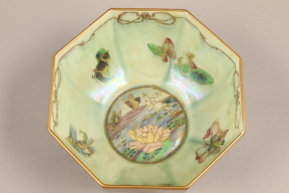 Wedgwood fairyland lustre bowl, by Daisy Makeig-Jones, octagonal form, decorated in the Firbolgs - Image 2 of 15