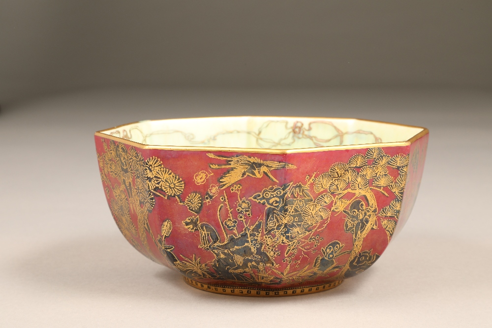 Wedgwood fairyland lustre bowl, by Daisy Makeig-Jones, octagonal form, decorated in the Firbolgs - Image 7 of 15