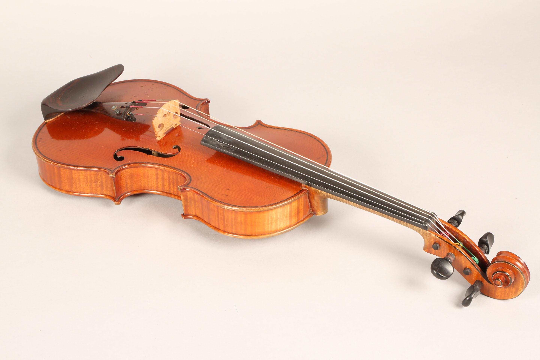 Violin by Jean Baptiste Collin Mezin, dated 1887. Interior label CH J B Collin-Mezin, Luther A - Image 12 of 14