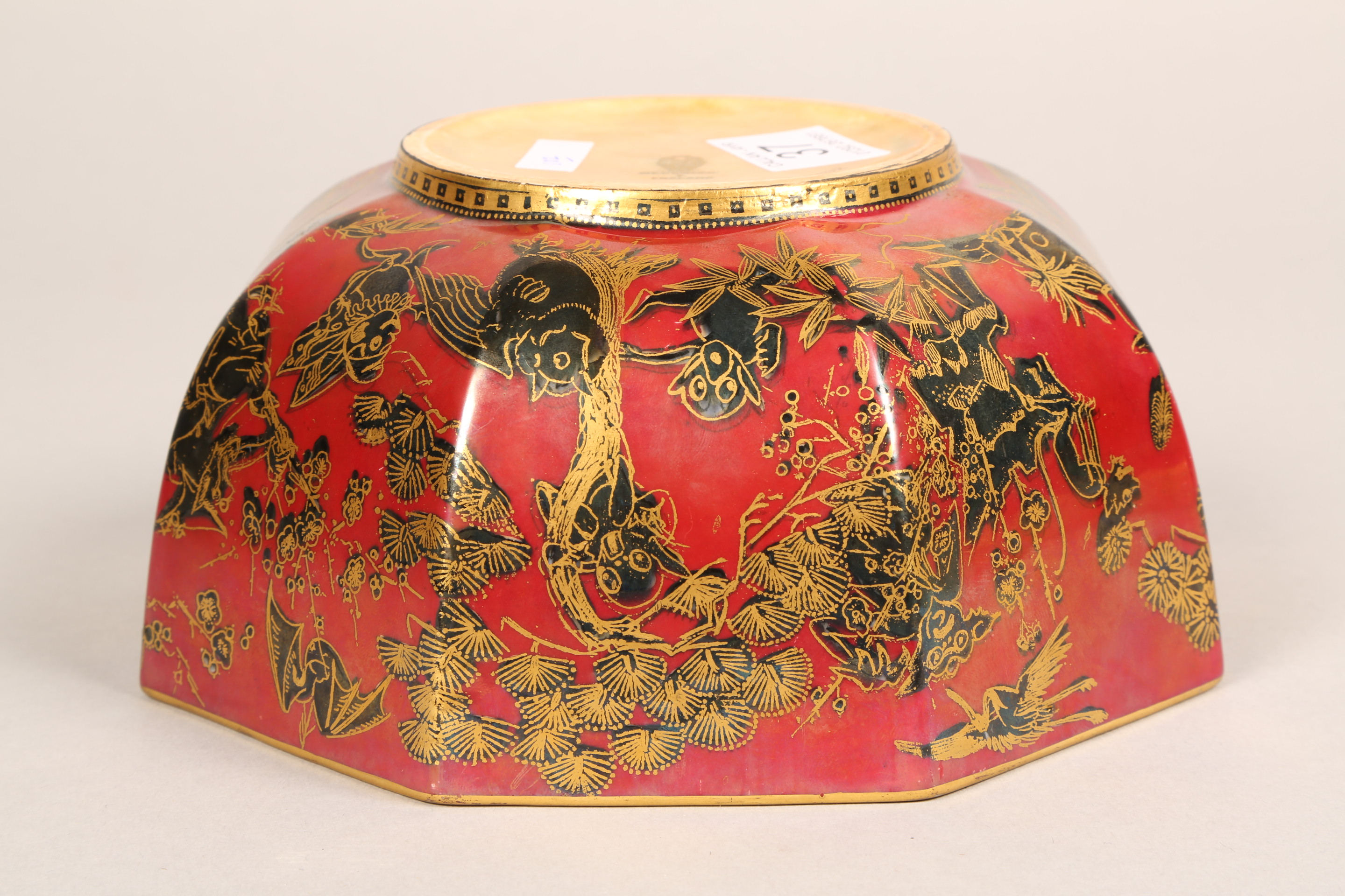 Wedgwood fairyland lustre bowl, by Daisy Makeig-Jones, octagonal form, decorated in the Firbolgs - Image 12 of 15