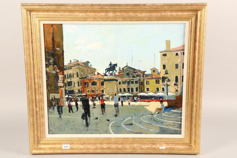 Ken Howard OBE RA RBA NEAC (British born 1932) ARR Framed oil on canvas, signed 'Campo SS Giovanni E - Image 2 of 5