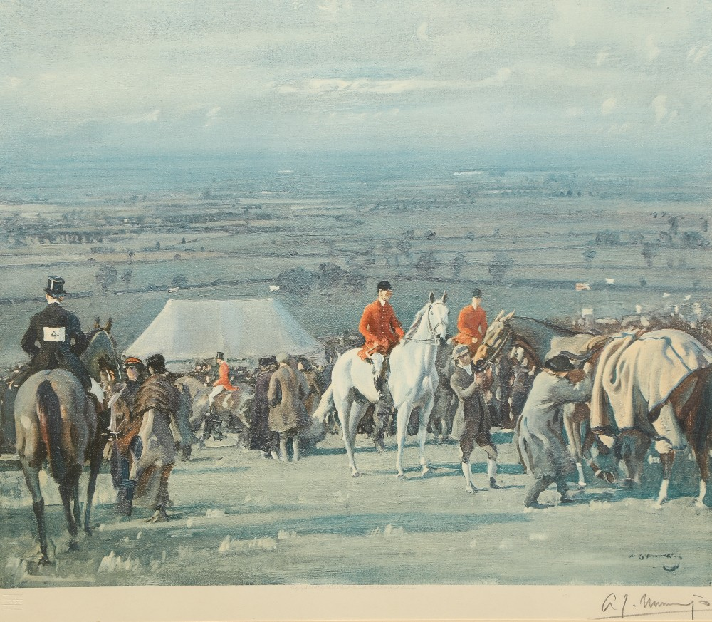 Alfred J Munnings Set of three artist's proof prints, 1922 Frost & Reed, signed in pencil, lower