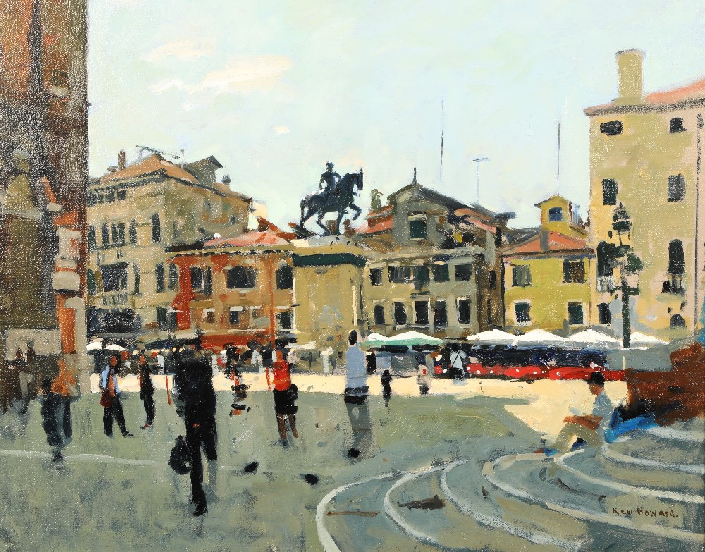 Ken Howard OBE RA RBA NEAC (British born 1932) ARR Framed oil on canvas, signed 'Campo SS Giovanni E