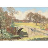 William Douglas MacLeod (Scottish 1892-1963) ARR Framed pastel, signed 'The Auld Brig, Alloway' 38cm