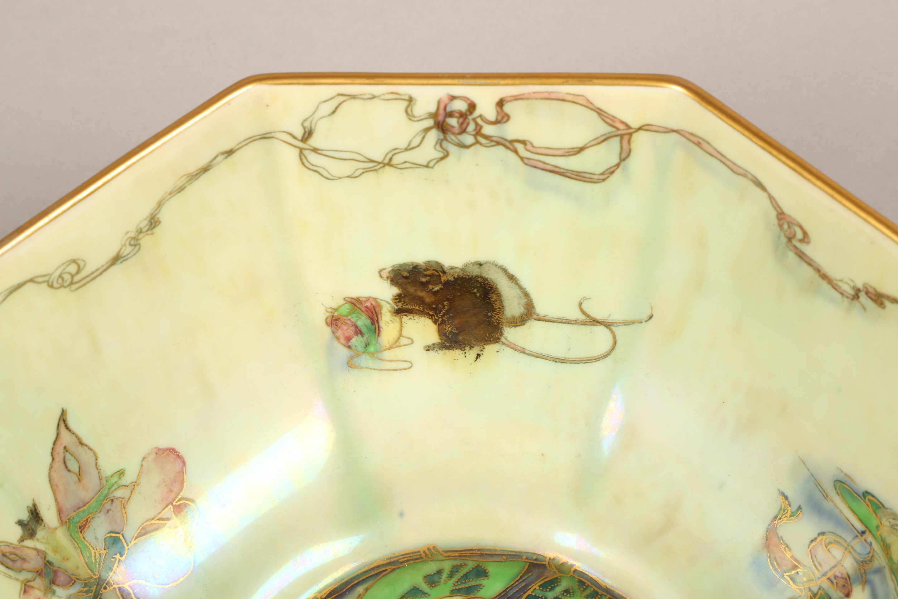 Wedgwood fairyland lustre bowl, by Daisy Makeig-Jones, octagonal form, decorated in the Firbolgs - Image 10 of 15