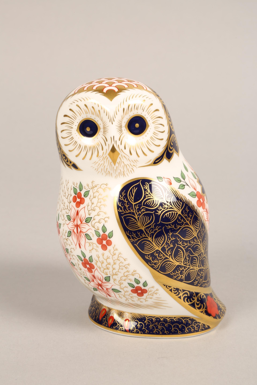 Royal Crown Derby bone china figure ornament, Old Imari Owl, 13cm. - Image 2 of 4