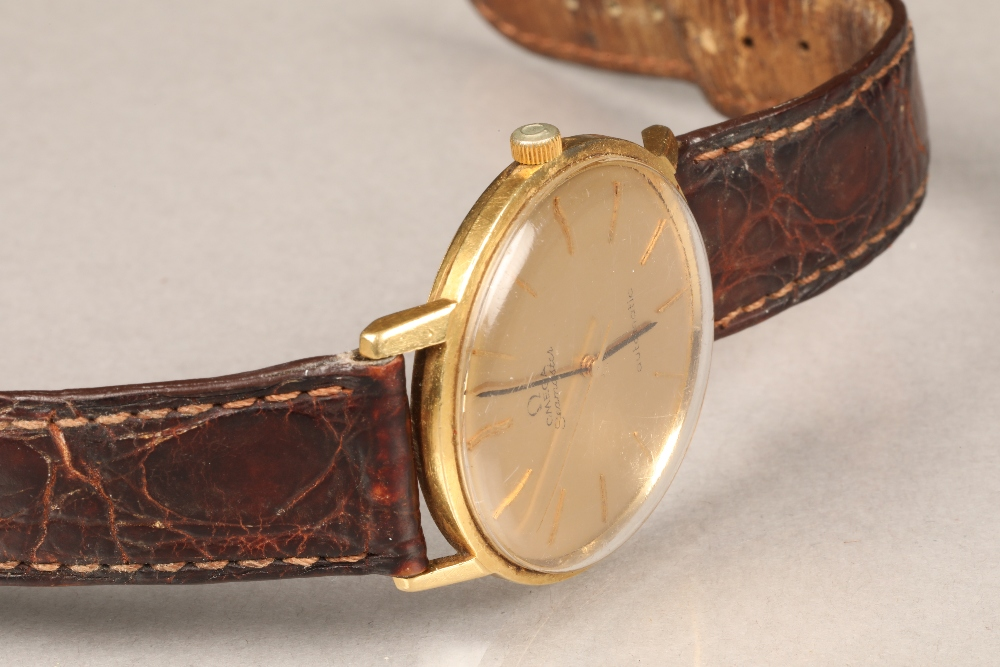 Gents 9 carat gold Omega Seamaster automatic wrist watch, dial with hour markers and sweeping - Image 2 of 10