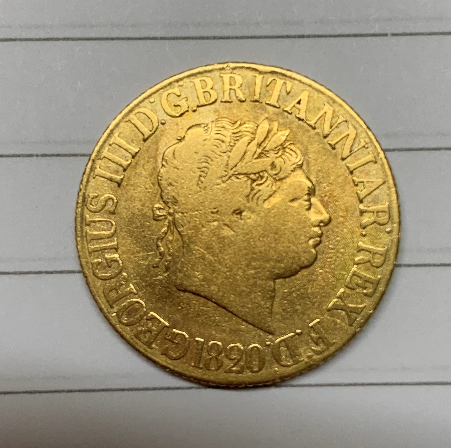 George III gold sovereign, dated 1820, weight 8g. - Image 4 of 4