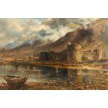 Scottish School (Late 19th century) Gilt framed oil on canvas 'Inverlochy Castle' 46cm x 76cm