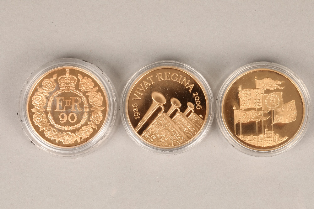 The Queen Elizabeth II gold coins gold proof coin set 1996 70th Birthday Crown, 22 carat gold proof,