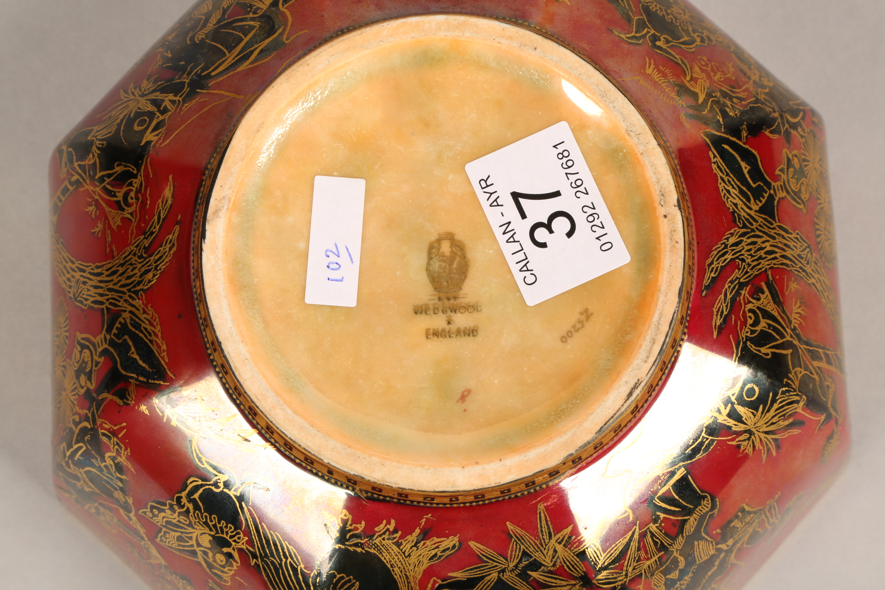 Wedgwood fairyland lustre bowl, by Daisy Makeig-Jones, octagonal form, decorated in the Firbolgs - Image 11 of 15