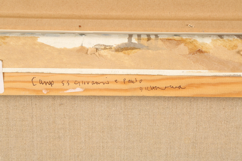 Ken Howard OBE RA RBA NEAC (British born 1932) ARR Framed oil on canvas, signed 'Campo SS Giovanni E - Image 4 of 5