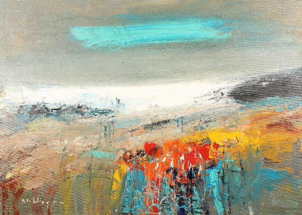 Nael Hanna (Scottish/Iraqi born 1959) ARR Framed oil on canvas, signed 'East Haven Fishing Creels'