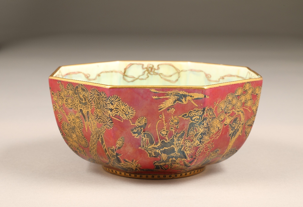 Wedgwood fairyland lustre bowl, by Daisy Makeig-Jones, octagonal form, decorated in the Firbolgs - Image 4 of 15