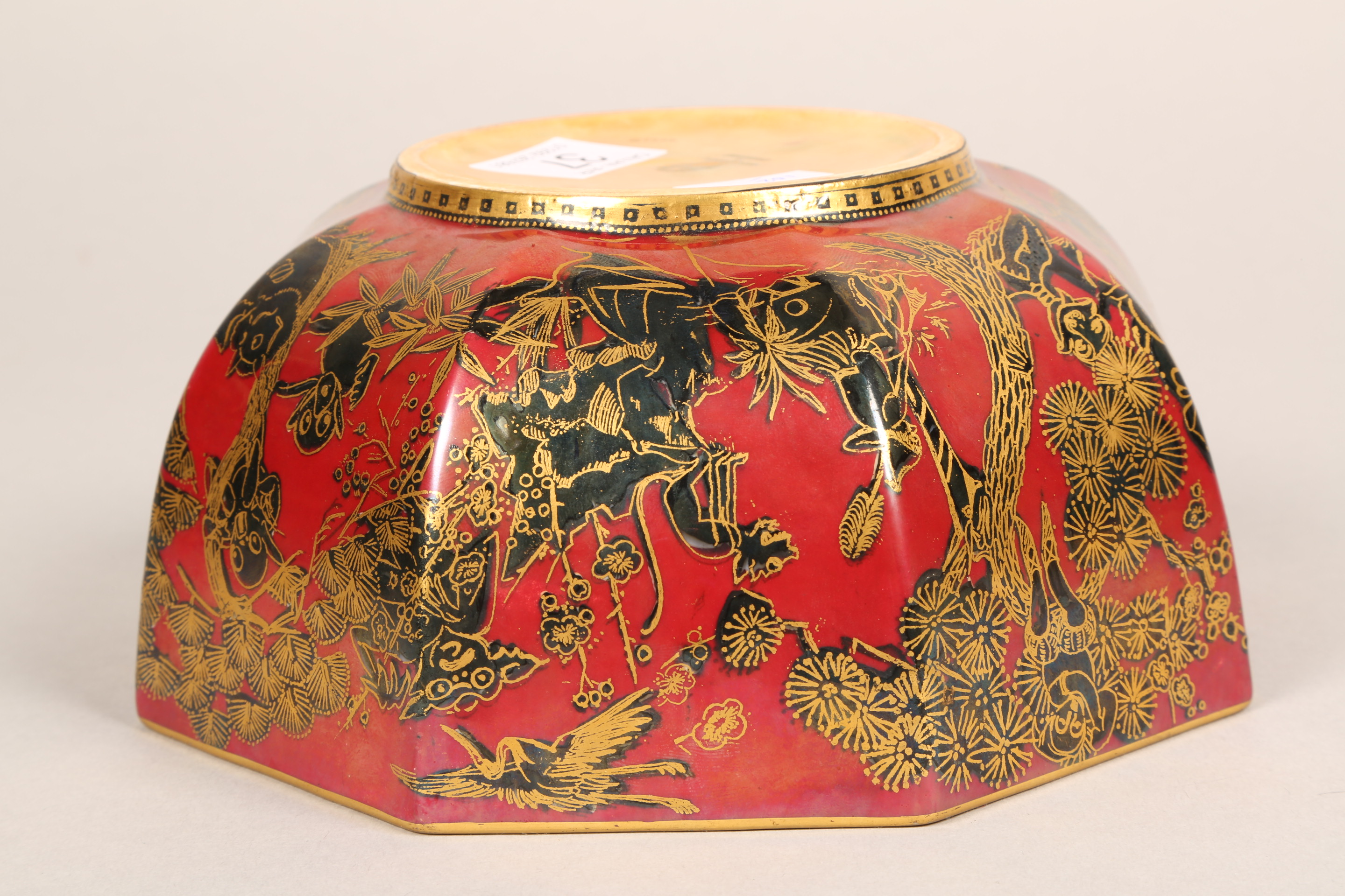 Wedgwood fairyland lustre bowl, by Daisy Makeig-Jones, octagonal form, decorated in the Firbolgs - Image 14 of 15