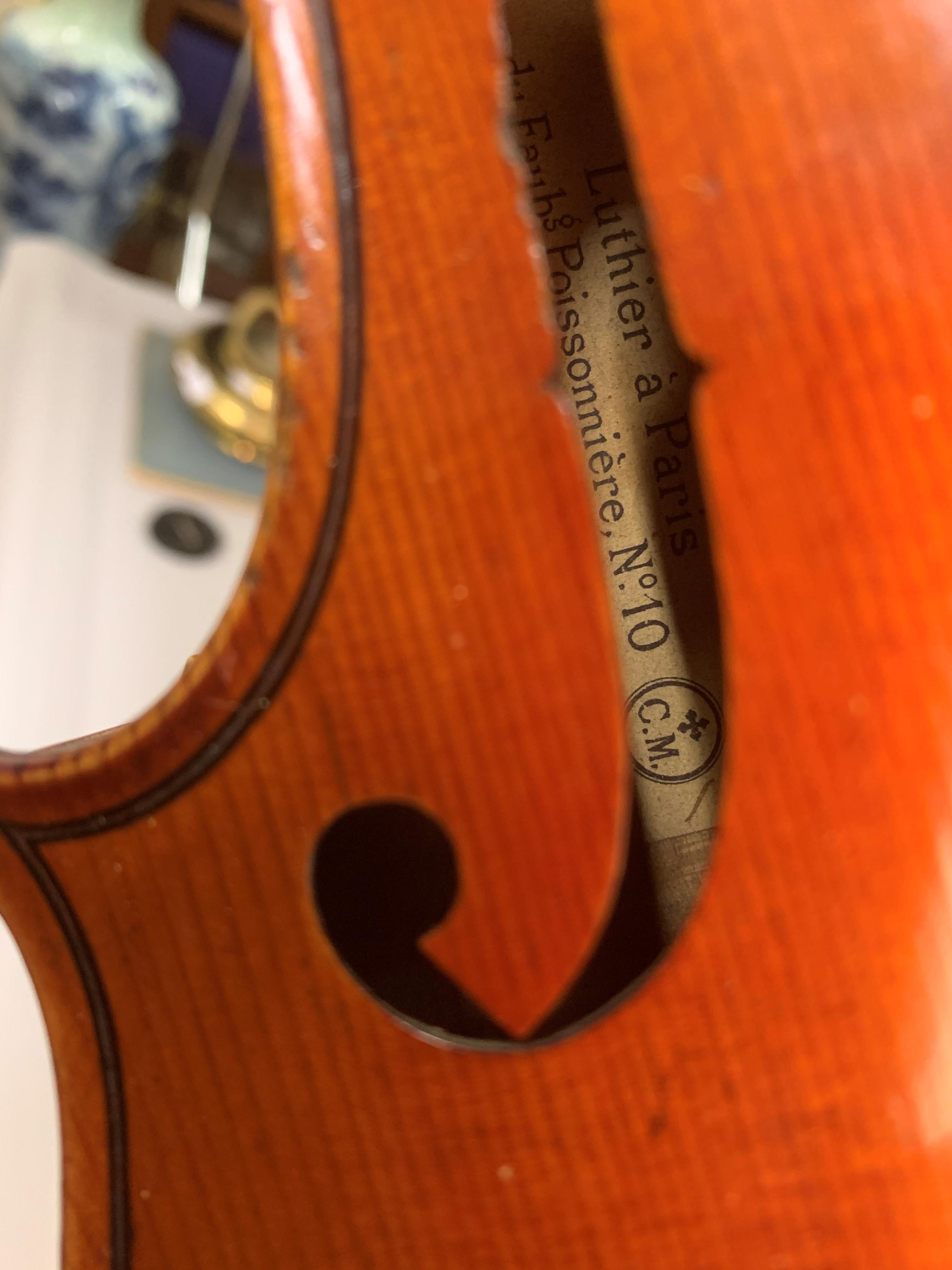 Violin by Jean Baptiste Collin Mezin, dated 1887. Interior label CH J B Collin-Mezin, Luther A - Image 14 of 14