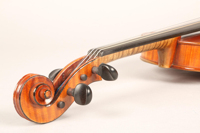 Violin by Jean Baptiste Collin Mezin, dated 1887. Interior label CH J B Collin-Mezin, Luther A - Image 10 of 14