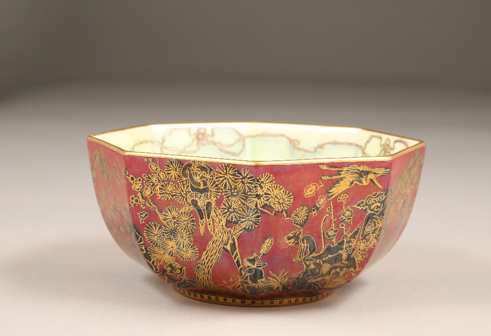 Wedgwood fairyland lustre bowl, by Daisy Makeig-Jones, octagonal form, decorated in the Firbolgs - Image 6 of 15