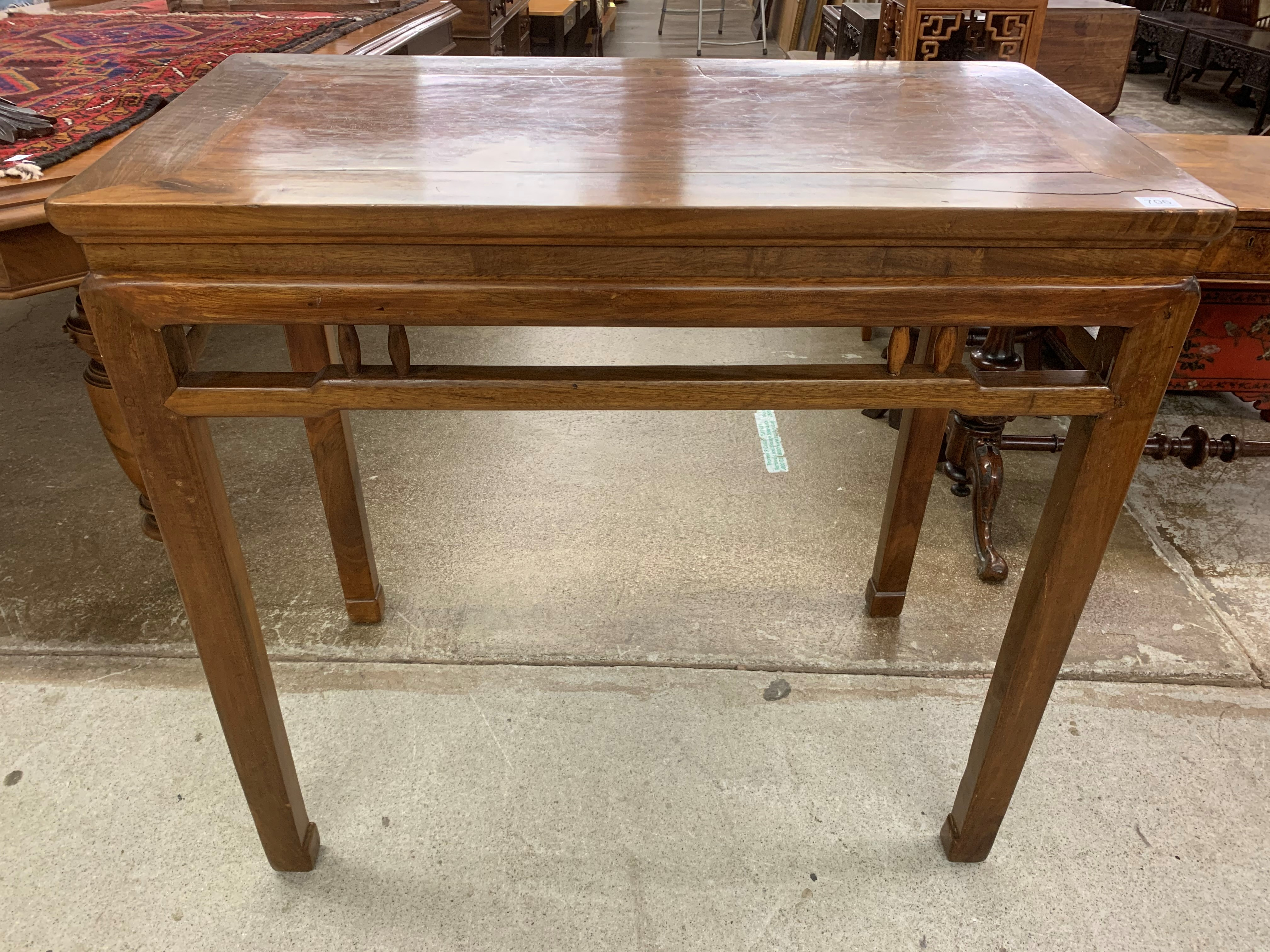 Chinese hardwood altar table, 95.5cm long, 51cm wide, 89cm high. - Image 2 of 6