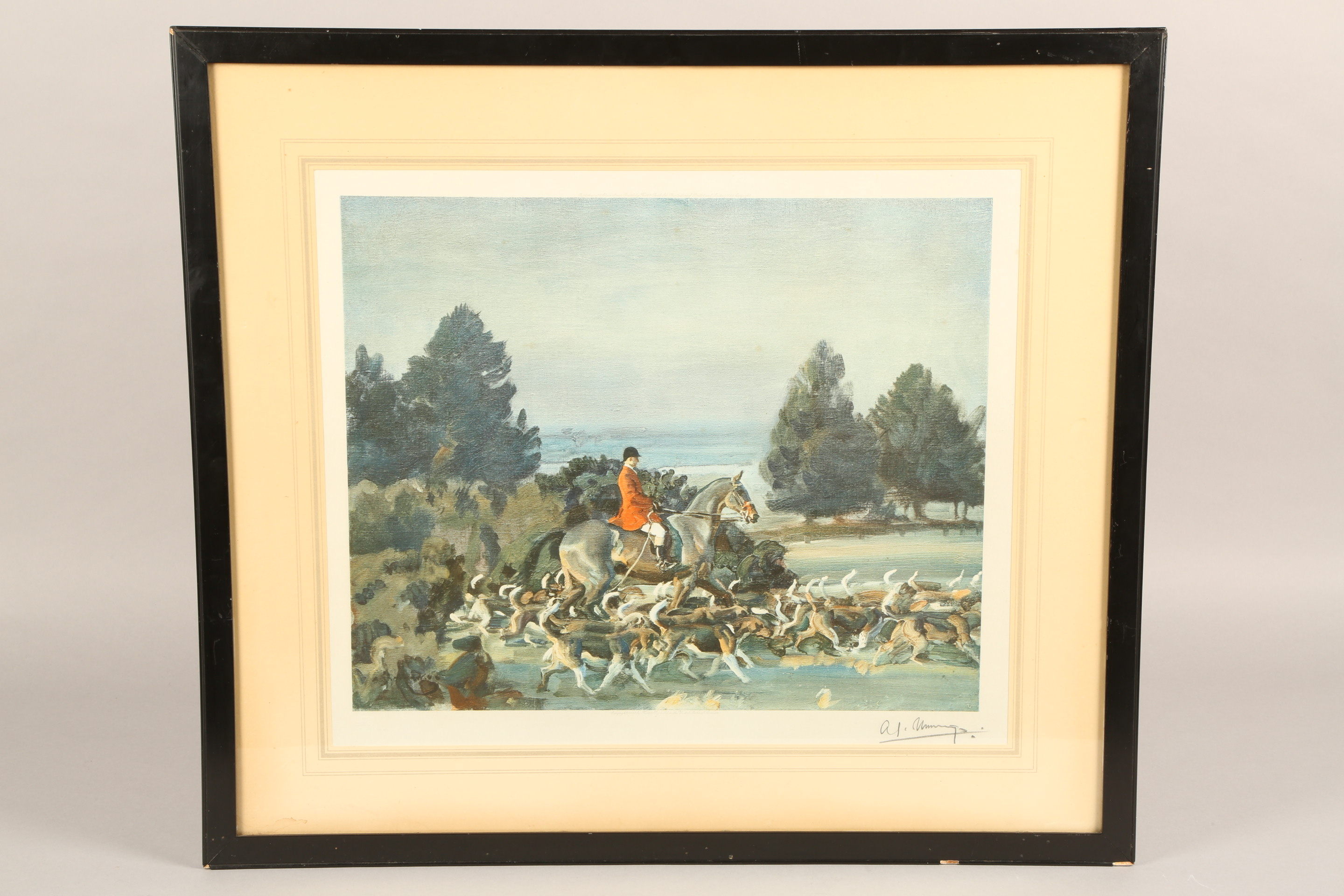 Alfred J Munnings Set of three artist's proof prints, 1922 Frost & Reed, signed in pencil, lower - Image 4 of 5