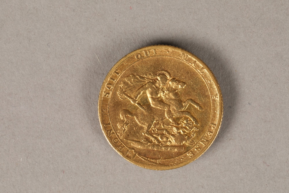 George III gold sovereign, dated 1820, weight 8g.