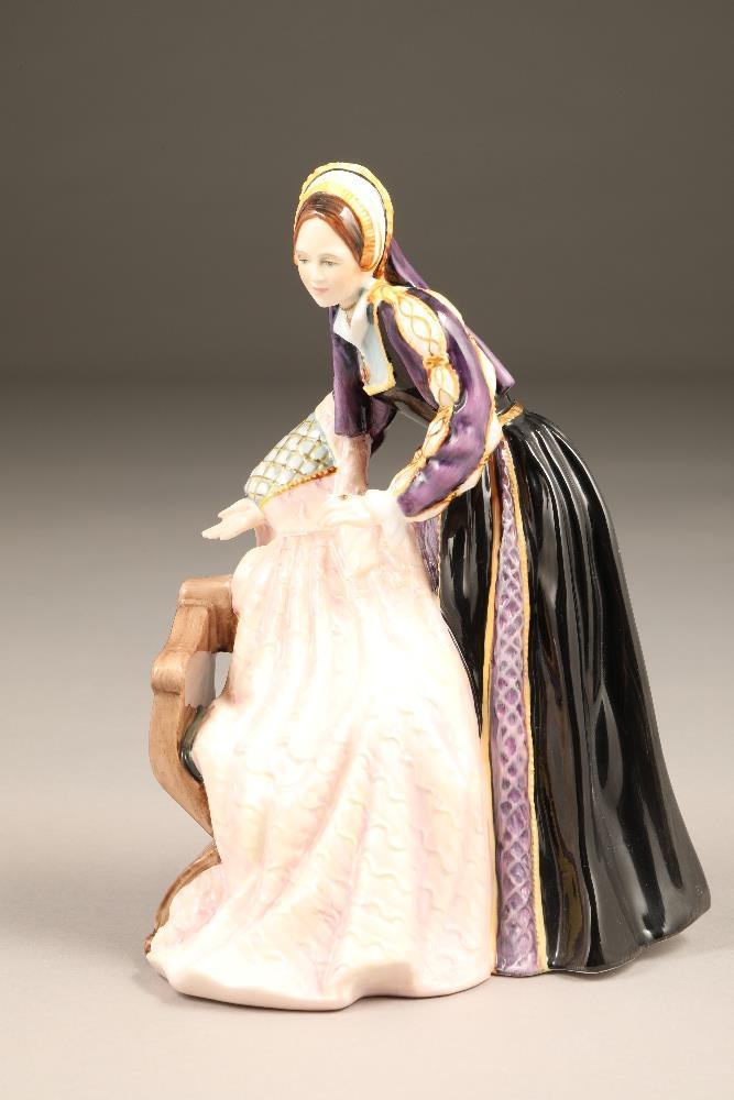 Royal Doulton bone china figure, limited edition, Catherine Howard, HN 3449, No 2398/9500.
