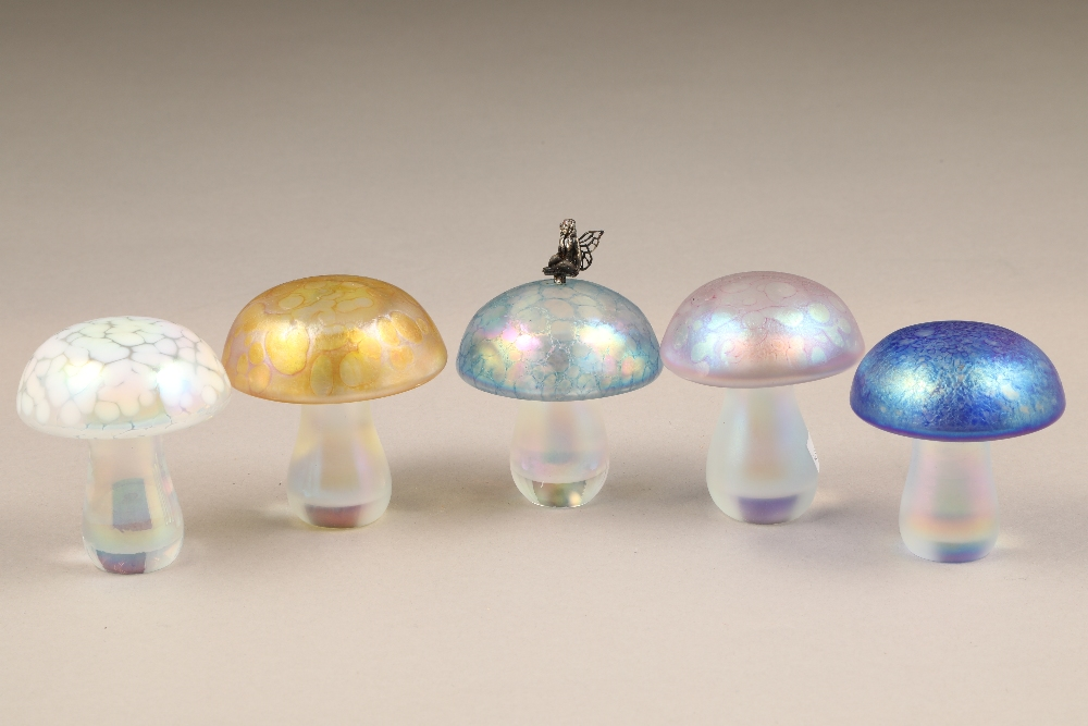 John Ditchfield for Glasform, eleven assorted iridescent glass paperweights. - Image 2 of 2