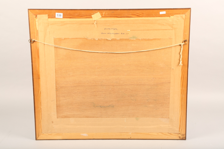 John McCutcheon ROI (Scottish born 1910) ARR Framed oil on board, signed 'Anstruther' 49cm x 59cm - Image 4 of 5