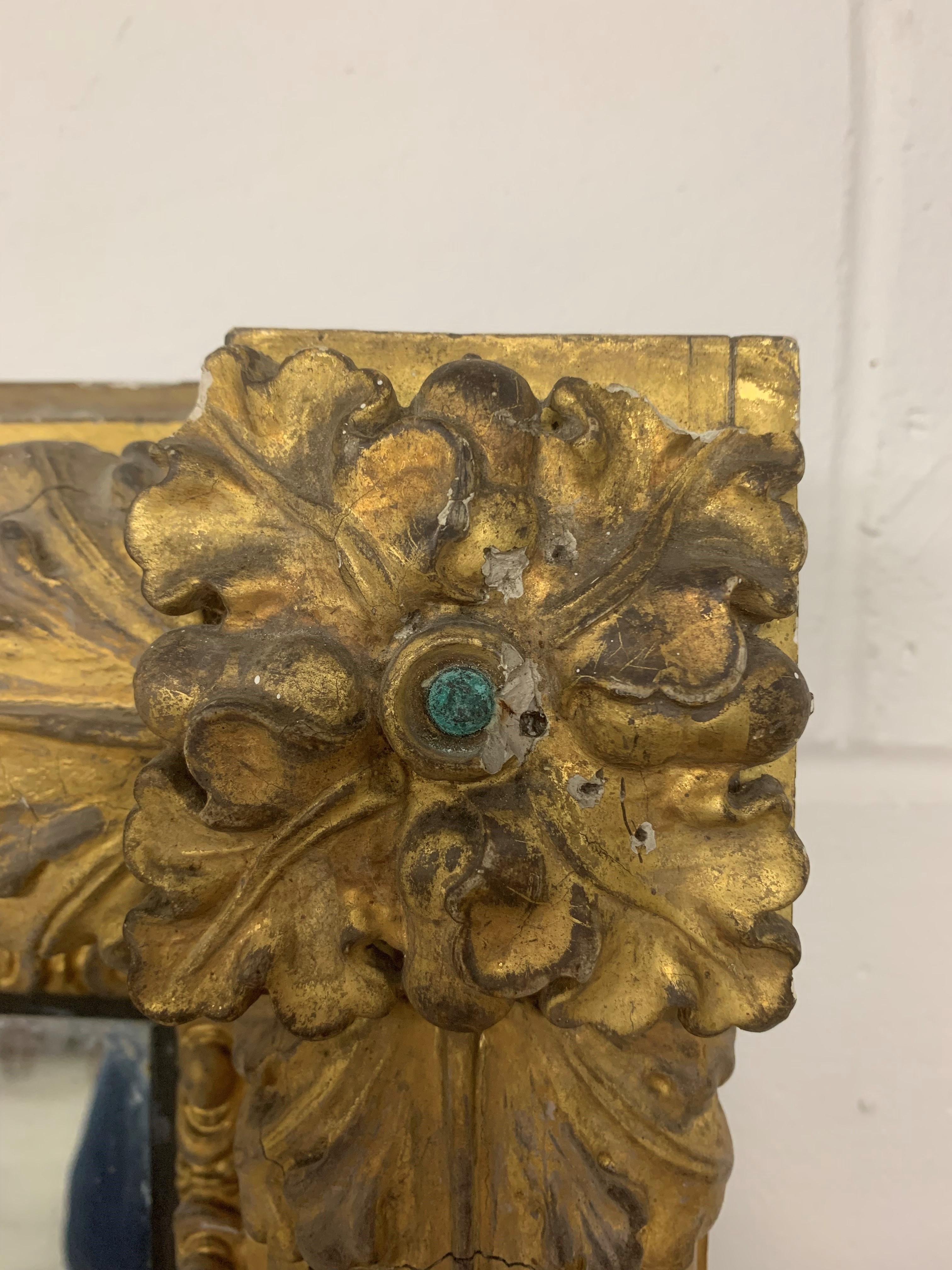 A large Regency gilt framed overmantelmirror, with acanthus leaf decoration, 212cm high, 108cm - Image 7 of 8