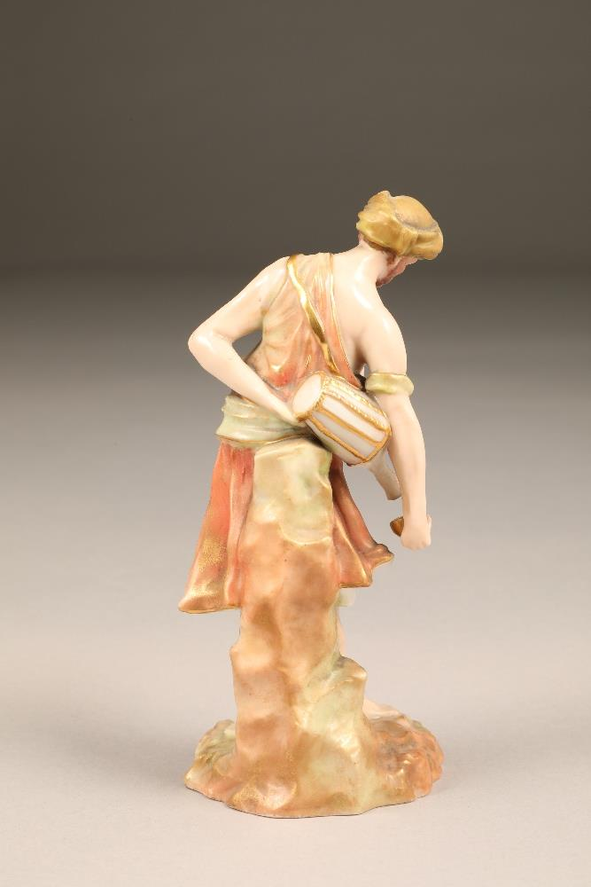 Nautilus porcelain figure, the water carrier, 17cm high. - Image 2 of 5
